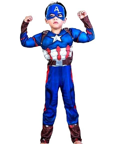 Disfraz de Capitán América - torso musculoso - superhéroe y ...