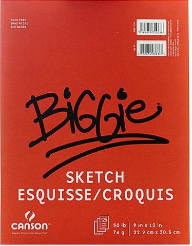 Canson Biggie Sketch Pads (9 In. x 12 In.) 2 pcs sku# 1828760MA