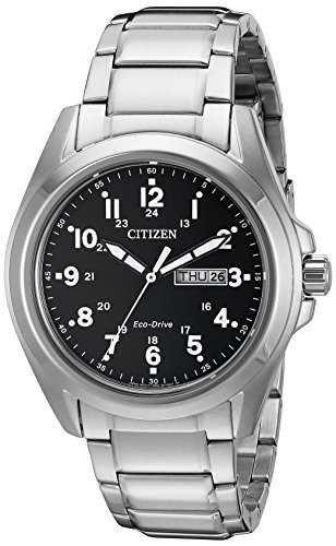 (Citizen Men's Eco-Drive Stainless Steel Watch with Day/Date, AW0050-82E)