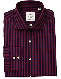 Men's Exploded Gingham Royal Spread Fit Dress Shirt