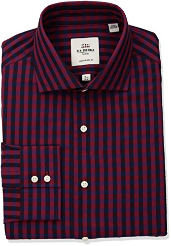 Ben-Sherman-Mens-Exploded-Gingham-Royal-Spread-Fit-Dress-Shirt