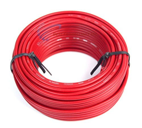 Best Connections 16 GAUGE WIRE RED & BLACK POWER GROUND 50 FT EACH PRIMARY STRANDED COPPER CLAD by Best Connections (Image #1)'