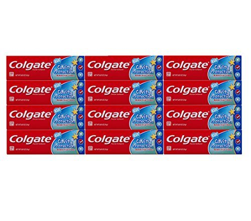 (Colgate Kids Cavity Protection Fluoride Toothpaste, Bubble Fruit Flavor, Travel Size 0.85 oz (24g) - Pack of 12)