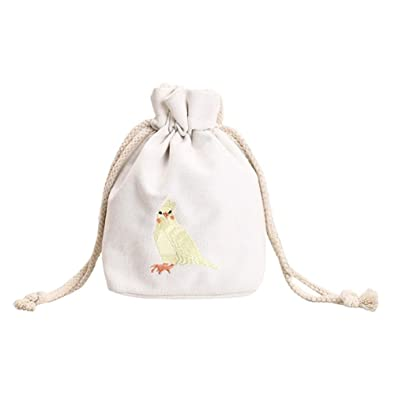 aac608168a Widewing Women Mini Canvas Bucket Handbag Girls Drawstring Messenger Bags (White)