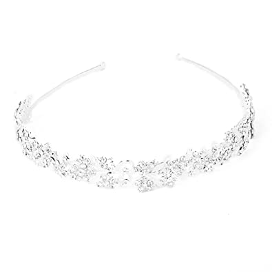 Buy Generic Bridal Silver Flower and Leaves Rhinestone Headband for Women  Online at Low Prices in India  492be34002b