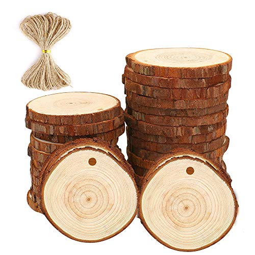 Natural Wood Slices Craft Wood kit Unfinished Predrilled