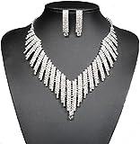 FUMUD Wedding Bridal Jewelry Set Crystal...