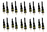 10 Pack RCA Male to Male Gold-Plated Connectors 3 Feet Black, CNE466168