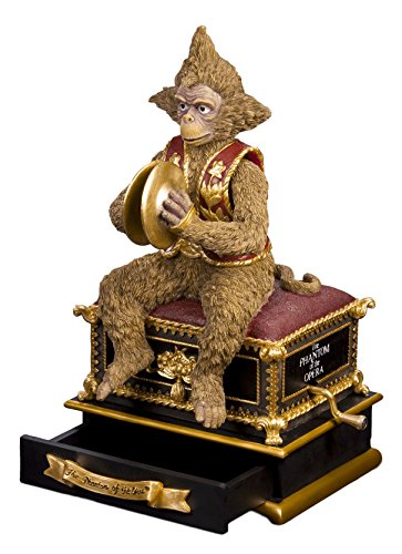 - The San Francisco Music Box Company Phantom of The Opera Monkey with Hand Crank