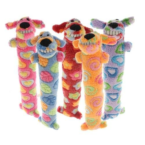12-Inch Loofa Dog for Breast Cancer Dog Plush Toy, Colors May Vary by Multi Pet