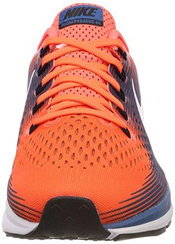 Nike Air Zoom Pegasus 34 Menns Joggesko Hyper Orange / Svart-industrielle  Blå ...