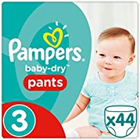 Pampers Baby Dry - Pañales (talla 3, 44