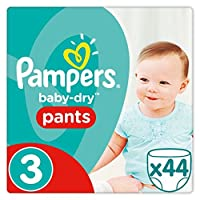 Pampers Baby Dry Pants Size 3 Essential Pack 44 Nappies