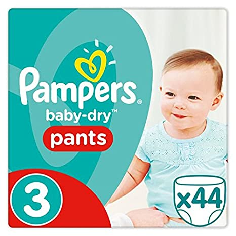 Pampers Baby Dry - Pañales (talla 3, 44 unidades)