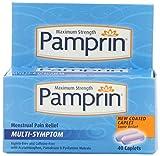 Pamprin Maximum Strength Multi-Symptom Menstrual Relief Caplets, 40 Count Box.