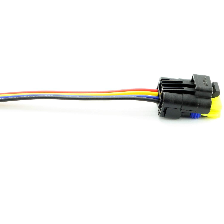 Satz Stecker 4-Polig Kraftstoffpumpe Tankgeber C4 Megane Scenic Kangoo Kabelbaum Repair Kit Overdrive-Racing Rep