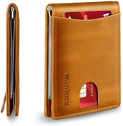Minimalist Wallet Pocket Leather Blocking