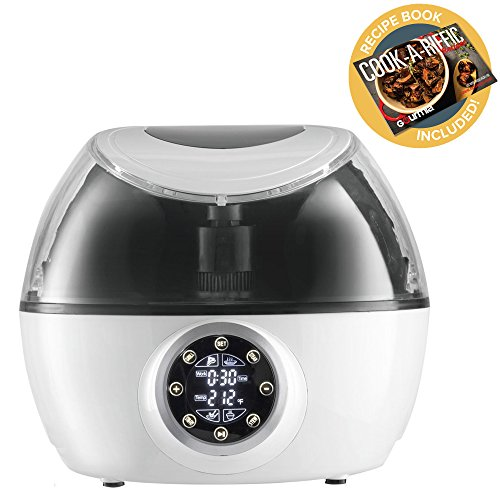 Gourmia GCR1700 10-in-1 Programmable Multi Cooker with Exclusive Robotic Hands Free Stirrer (Third Generation), White Free Recipe Book Included,110v