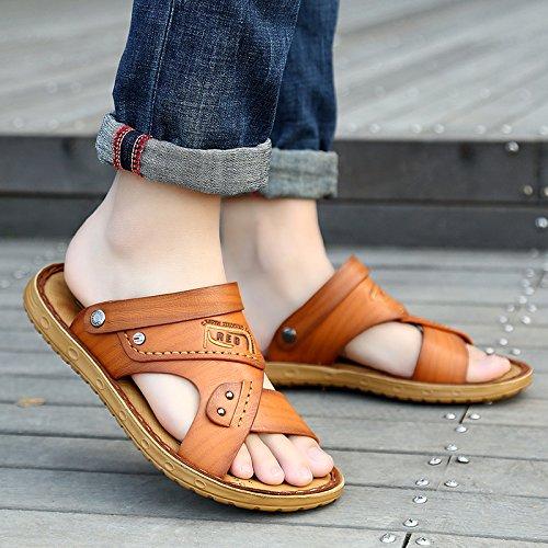 ZHNAGJIA Sommer Strand Schuhe, Sandalen Für Männer, Neue Casual Weichen Boden Sandalen, Outdoor Rutschfeste Hausschuhe, 39, 51 Gelb