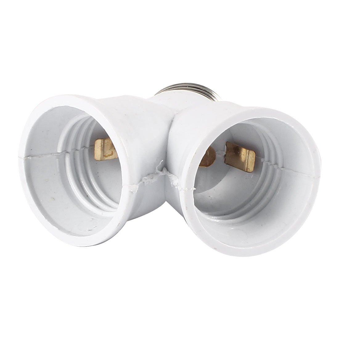 E27 To E27 Light Lamp Bulb Socket 2 Splitter Convertor - Y Bulb Adapter -  Amazon.com