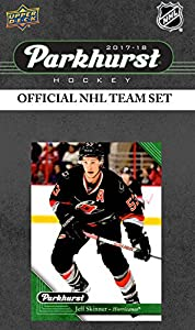 Carolina Hurricanes 2017 2018 Upper Deck PARKHURST Series Factory Sealed Team Set including Jeff Skinner, Jordan Staal, Martin Necas Rookie Card
