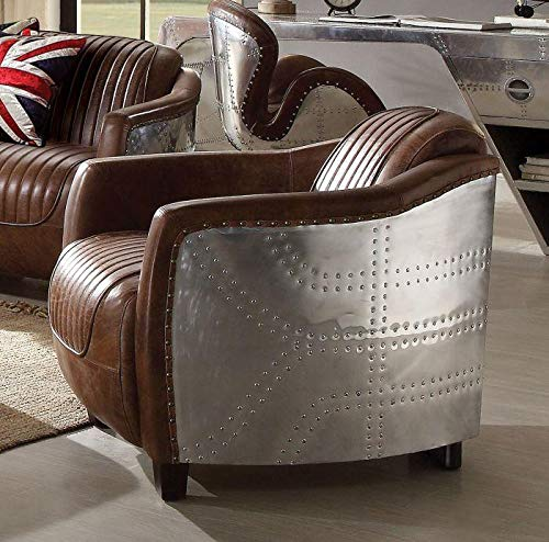 Acme Furniture Industry, INC Arm Chair in Retro Brown Finish