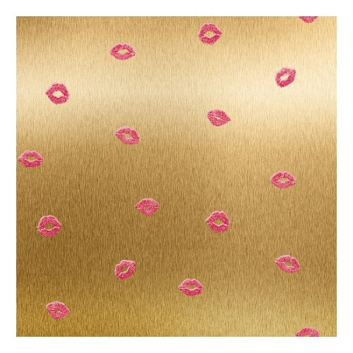 York Wallcoverings RB4328SMP Risky Business Smooches 8-Inch X 10-Inch Wallpaper Memo Sample
