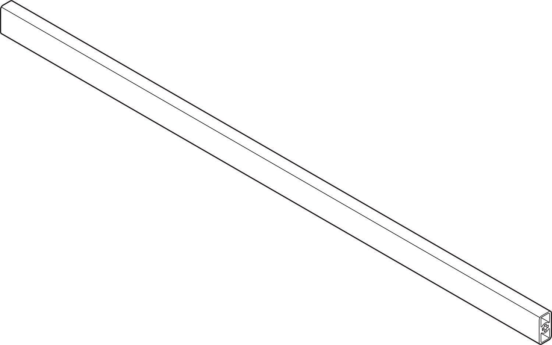 f/ür TANDEMBOX intivo//antaro RONIN FURNITURE FITTINGS/® BLUM TANDEMBOX Querreling f/ür Innenauszug bis KB=1200 mm zum Abl/ängen seidenweiss ZRG.1046Z