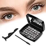 Upgraded Magnetic Eyelashes Natural Look Ultra Thin Magnet Reusable False Eyelashes Light Weight and Easy to Wear Magnetic Fake Lashes with Eyelashes Tweezers (3 pairs)