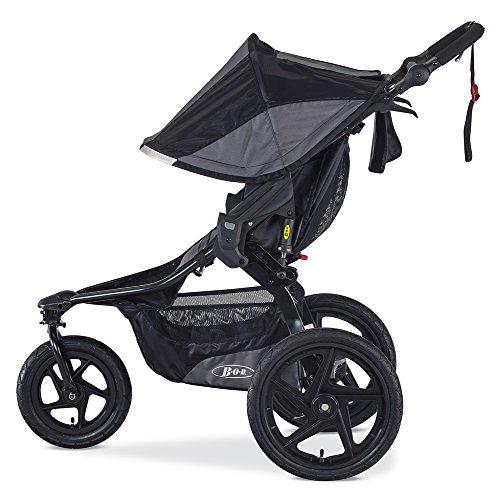 BOB Revolution PRO Jogging Stroller - Up to 75 Pounds - UPF 50+ Canopy - Easy Fold - Adjustable Handlebar with Hand Brake, Black