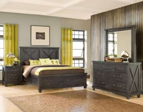 Modus Furniture Yosemite Low Profile Bedroom Set (Cafe, Queen) ()