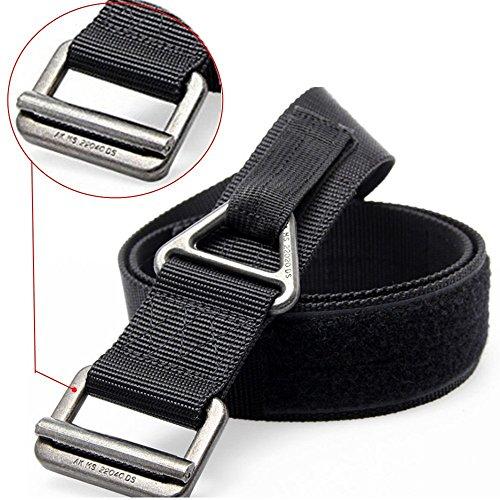 Best Price FAIRWIN Men's Riggers Tactical Belt, Military Style Nylon Webbing Outdoor Security Combat...