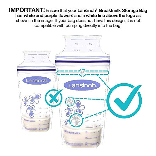Large Product Image of Lansinoh - Breastmilk Storage Bags for Storing and Freezing Breastmilk - 50 Count (Pack of 3)