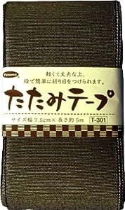 Tepurame 5m roll T-301 black lame tatami panami (japan import)