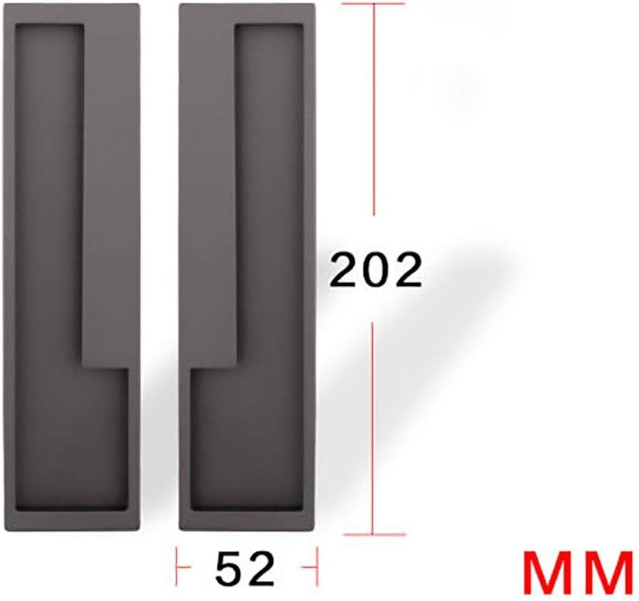 Zyangg-Home Pomos y Tiradores Moderna Minimalista correderas Puerta corredera Plegable de la manija de Puerta de la Puerta Invisible Gabinete Puerta Oculta empotrada Muebles Decoración