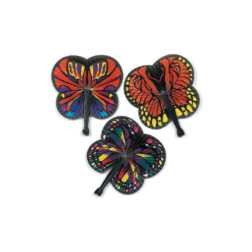 Butterfly Folding Fans (1 dz) Butterfly Theme Favors