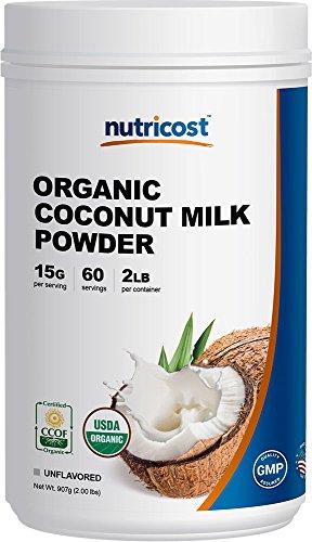 Nutricost Organic Coconut Milk Powder 2LBS - Non-GMO, Certified Organic Coconut Milk Powder
