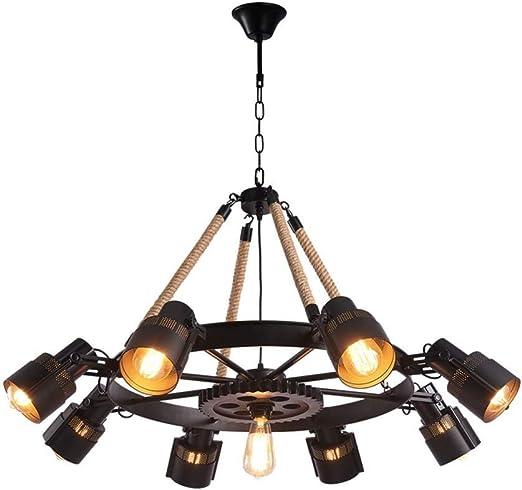 E27 Flush Mount Scone rétro plafonnier vintage industriel métal pendentif lampe
