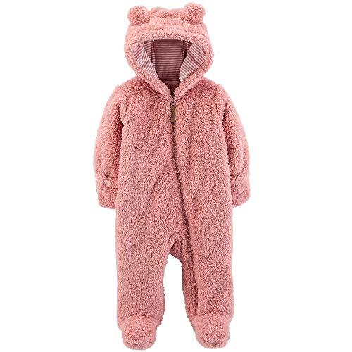 (Carter's 0-9 Months Hooded Sherpa Bunting Pram (Pink Sherpa, Newborn))