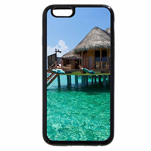 iPhone 6S / iPhone 6 Case (Black) wonderful tropical bungalow