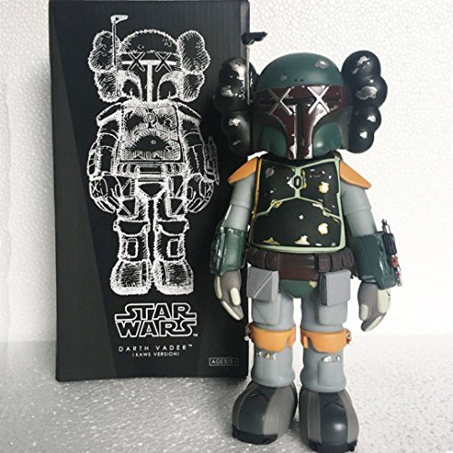 KawJumbo Green Boba Fet Wars 30th Anniversary KAWS BFF Dissected Companion Original Fake Art Toys Action Figure Figurine Plush Doll Toy Model Statue Accessories Collection Morden Gift With Retail Box