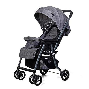CDREAM Cochecito De Bebé Plegable Carrito De Bebé 0-36 Meses MAX 20 Kg Silla De Paseo Ligera Y Compacta 4.7kg,Grey: Amazon.es: Jardín