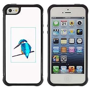 LASTONE PHONE CASE / Suave Silicona Caso Carcasa de Caucho Funda para Apple Iphone 5 / 5S / Blue Bird