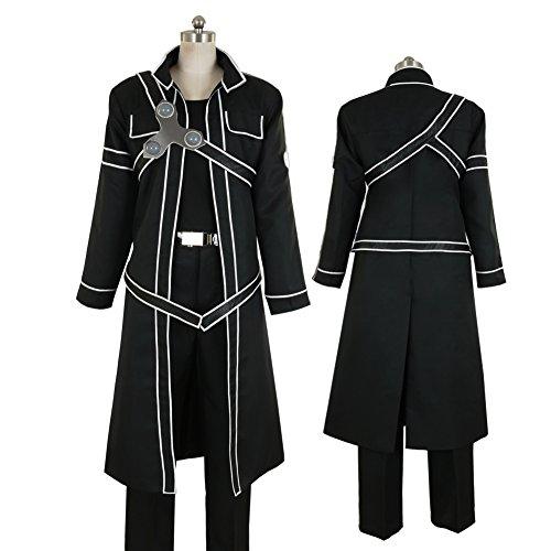 Costume Swordsman Female (CG Costume Men's Sword Art Online Kirito Cosplay Costume)