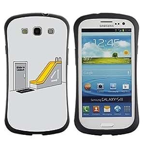 Hybrid Anti-Shock Bumper Case for Samsung Galaxy S3 / Office Humor
