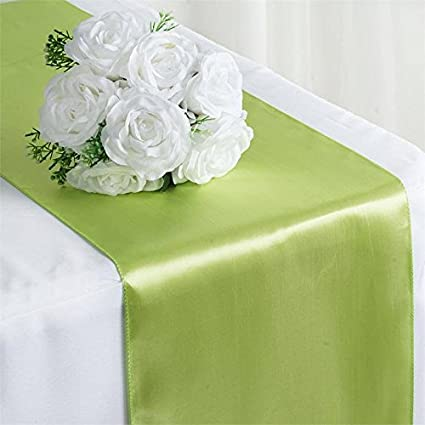 Charmant Tiger Chef 1 Pack Apple Green 12 X 108 Inches Long Satin Table Runner For