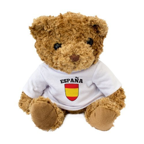 NEW - Spain / España Flag Teddy Bear - Present Gift - Spanish Football Fan