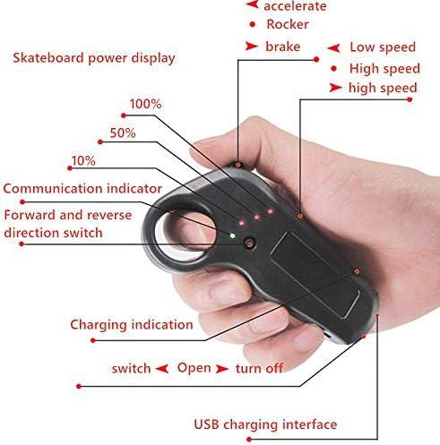 Y&XF Skateboard électrique Tout-Terrain pour Skateboard électrique avec télécommande 4 Scooters Adultes Scooter Ruote 10s5p / 360wh / 2000w, 38.2 '' * 9 '' * 7.9 '', Noir