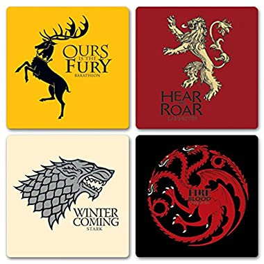Game Of Thrones - House Coaster Set 4 x 4in