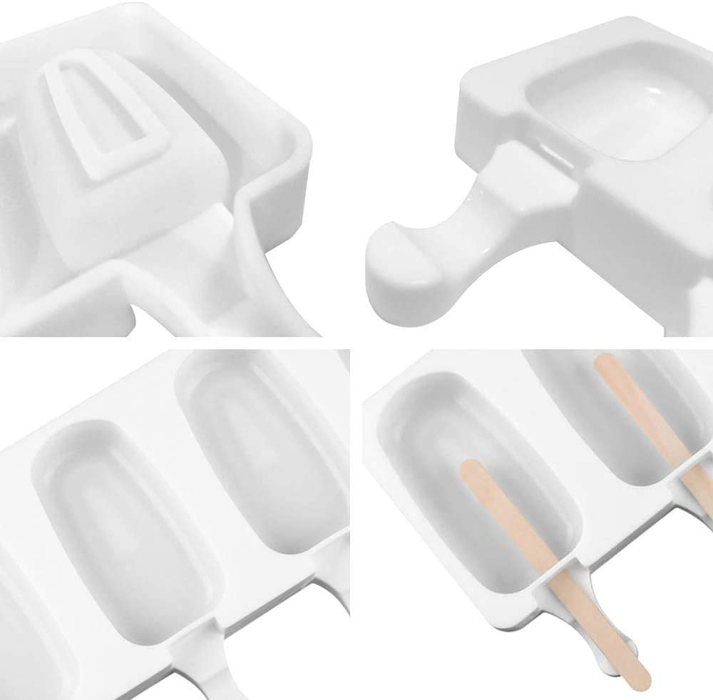 50 pcs B/âtons en Bois Silicone Moule /À Cr/ème Glac/ée Pop Ice Lolly Moule Maker Dessert Congel/é Popsicle Plateau Maison Cuisine Outils Pan huichang Moule /à Cr/ème Glac/ée